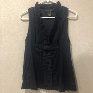 Marc by Marc Jacobs Navy Blue Sleeveless Blouse